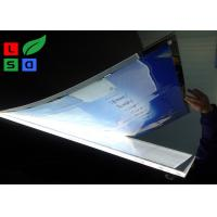 Quality Crystal Material Magnetic LED Light Box , Clear Frame Edge Poster Light Box for sale