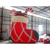 Oxford Cloth Custom Large Christmas Shoes For Decoration , PVC tarpaulin Manufactures
