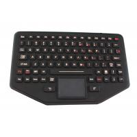Ip68 Silicone Movable Desktop Industrial Keyboard With Touchpad For Military Manufactures