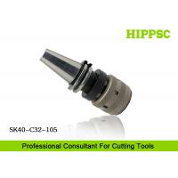 High Accuracy Power Tool Holder 0.003mm Runout With Hook Spanner , SK40 Spindle Type Manufactures