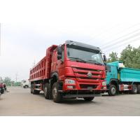 Sinotruck Howo 8x4 12-Wheel Dump Truck Capacity 40ton With red color Manufactures
