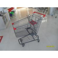 Custom Logo Grocery Shopping Trolley For Metallic Distribute Store 125L Manufactures