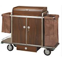 Quality Brown Room Service Trolley For Hotel for sale