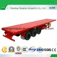 Shengrun Manufacturer Container Cargo Transport Truck Semi 40FT Flatbed Trailer Manufactures