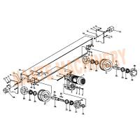Quality Crane Traveling Mechanism HSB Series Crane End Carriage for Single / Double for sale