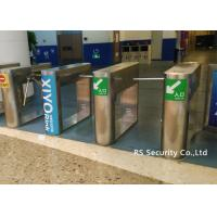 1.5 Thickness Full Automatic Turnstile / Semi Auto Waist Height Turnstile Gate Manufactures