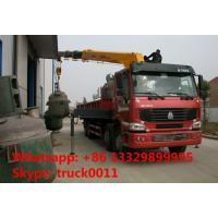 Quality Heavy duty SINO TRUK 8*4 HOWO 16tons Truck with Crane,factory sale best price for sale