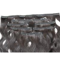 Comb Easily Clip In Natural Hair Extensions , 8A Blonde Clip In Hair Extensions Manufactures