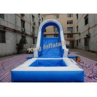 Buy cheap Blue Family Double Stitching Inflatable Water Slide For Kids from wholesalers