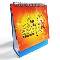 Cute Small Table Customized Calendar Printing with Silver Hot Stamped Logo for Ads Manufactures