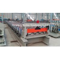 90Mm shaft Floor Deck Roll Forming Machine with 1.5 inch chains transmission Manufactures