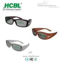 Digital White / Brown / Yellow Real D 3D Glasses Big Frame Cinema Using Manufactures