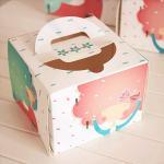 Individual Window Take Away Cake Boxes Rigid Art Paper Pontone Offsent Printing Manufactures