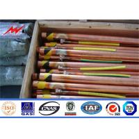 UL Listed Underground Copper Ground Rod 0.25/0.3mm Cooper Thickness Manufactures