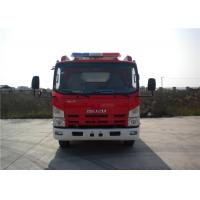 2x Halogen Lamp Tanker Fire Truck , 260 L/Min Flow Light Rescue Fire Trucks 4x2 Chassis Manufactures