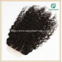 Lace top closure 5''x5'' ,brazilian virgin hair natural color loose curly 10''-24''length Manufactures