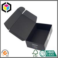 Matte Black Color CMYK Printing Corrugated Cardboard Shipping Box Mailer Box Manufactures