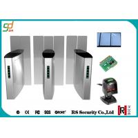 Stainless Steel Turnstile Security Systems, Full Height Sliding Barrier Turnstile Gate Manufactures