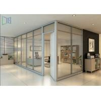 Modern Aluminium Glass Partition , Double Glazed Office Partitions For Building Manufactures