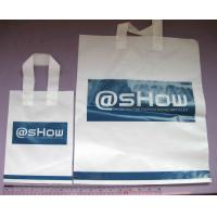 White Large Disposable Plastic Shopping Bags With Handles Manufactures