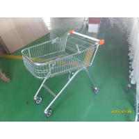 European Style 71L Shopping Trolley Cart Metal With Swivel Casters Manufactures
