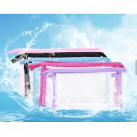 Sewing Clear Promotional PVC Bags , Colorful PVC Makeup Bag For Cosmetics Manufactures