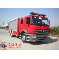 Quality Six Seats Foam Fire Truck Benz Chassis Wheelbase 4500mm With Air Conditioner System for sale