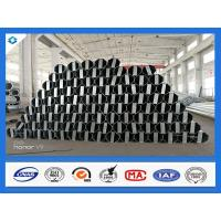 Buy cheap 40FT 11900mm 3mm Thick Octagonal Galvanized Electric Steel Poles from wholesalers