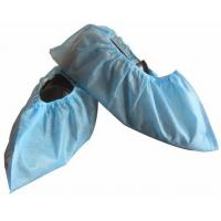 Disposable Non-Woven PP CPE Shoecover Medical Textile Products Non - Skid Shoe Cover Manufactures
