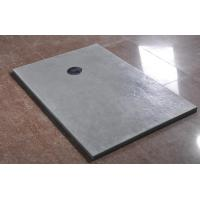 Quality Professional Free Standing Grey Polymarble Shower Base , Rectangular Shower Tray for sale