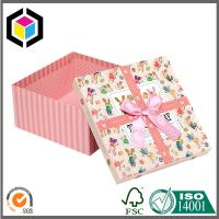 Lift-off Lid Rigid Chipboard Paper Gift Box Matte Color Print with Ribbon Manufactures