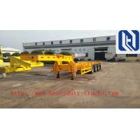 China SINO TRUK Utility 3 Axles Semi Trailer Trucks / Flat Low Bed Trailer on sale