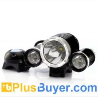 CREE T6 LED Bicycle Headlight and Headlamp (3000 Lumens, 4400mAh)