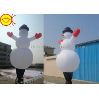 Waterproof Nylon Inflatable Air Dancer , Christmas Inflatable Snowman Manufactures