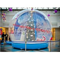Quality market city inflatable snow globe , giant inflatable snow globe , dubai plastic snow globe for sale