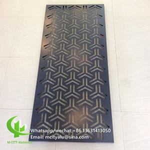 600x1200mm Aluminium Sheet Wall Cladding ,  Perforated Aluminum Cladding Panel  Wall Decoration Manufactures