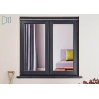 Aluminium Casement Double Glazing Tempered Glass Window Environment-Friendly