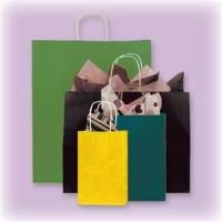 Solid Color Recycled Hot Transter Printing Custom Printed Gift Bags With Handles Manufactures
