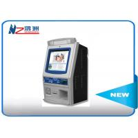 Wall mounted self service kiosk in hospital with fingerprint reader Manufactures