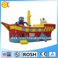 Cool Sailor Octopus Inflatable Combo Bouncers Party Event Inflatable Ship Bouncer Manufactures