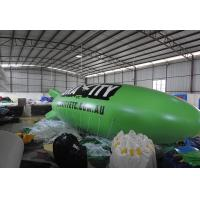 Durable Inflatable Advertising Balloons , Green Flying Inflatable Boat Manufactures