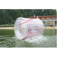 Quality Transparent PVC Inflatable Water Roller / Aqua Roller On Lake for sale
