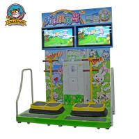 Jumping Island Type Coin Operated Amusement Machines Colorful Fluorescent Light Manufactures