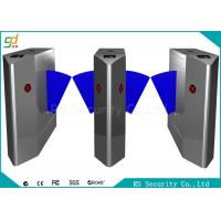 Quality Remote Control Flap Barrier Gate RFID Electronic Pedestrian Turnstiles for sale
