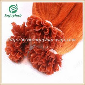 Nail U-Tip Hair 10-28 100s/lot Orange# Straight Human Hair Brazilian hair extension Manufactures