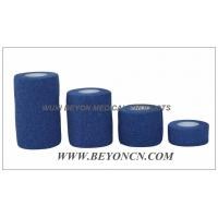 Blue Elastic Knee Bandage Hand Tear For Wound Care Control Edema and Hematoma Manufactures