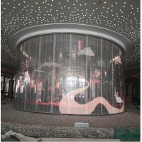 China TOPLED 800-1500CD brightness glass Transparent led display screen P3.91-7.81 indoor on sale