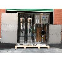 Quality 1TPH Water Purification Industrial Reverse Osmosis System Containerized Water Treatment Plant for sale
