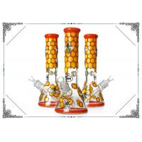Buy cheap 9mm Thick Bong Colorful Honeybee Art On Glass Smokig Pipe 13.5 Inches Hookah from wholesalers