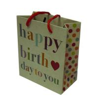 Happy Birthday Gift Packaging Paper Gift Bag Color Printing Fashion Design Manufactures